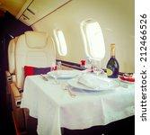 luxury interior aircraft... | Shutterstock . vector #212466526
