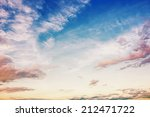 Clouds And Blue Sky At Sunrise...