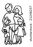 happy family outline...   Shutterstock . vector #21248257