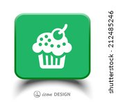 pictograph of cake | Shutterstock .eps vector #212485246