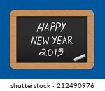 happy new year text on slate ... | Shutterstock .eps vector #212490976