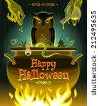 halloween vector illustration   ... | Shutterstock .eps vector #212495635