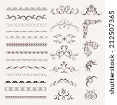 set vintage decorative frames ... | Shutterstock .eps vector #212507365