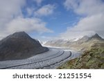 blue sky over the aletsch... | Shutterstock . vector #21251554