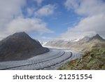 blue sky over the aletsch... | Shutterstock . vector #21251554