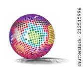 disco ball | Shutterstock .eps vector #212515996