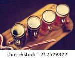 christmas beer tasting | Shutterstock . vector #212529322