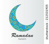 moon background for muslim... | Shutterstock .eps vector #212531905
