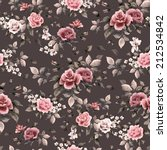 seamless floral pattern with... | Shutterstock . vector #212534842
