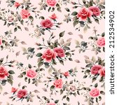 seamless floral pattern with... | Shutterstock . vector #212534902