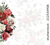 bouquet of roses  watercolor ... | Shutterstock . vector #212534908