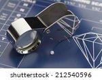 blue diamond grading chart with ... | Shutterstock . vector #212540596