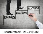 a concept of successful... | Shutterstock . vector #212541082