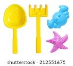Beach Toys Set Isolated On...