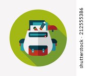backpack flat icon with long... | Shutterstock .eps vector #212555386