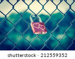 lockers symbolizing love... | Shutterstock . vector #212559352