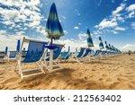 versilia beach. tuscany  italy | Shutterstock . vector #212563402