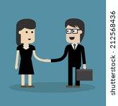 shaking hand  | Shutterstock .eps vector #212568436