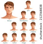 expressions set isolated on... | Shutterstock .eps vector #212568838