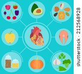infographics of food for... | Shutterstock .eps vector #212568928