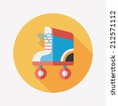roller skates flat icon with... | Shutterstock .eps vector #212571112