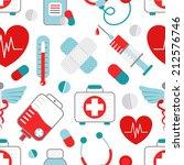 drugstore heart syringe pills... | Shutterstock .eps vector #212576746