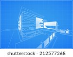 abstract 3d render of building... | Shutterstock .eps vector #212577268
