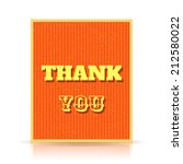 thank you card isolated on... | Shutterstock .eps vector #212580022