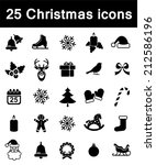 set of christmas icons  | Shutterstock . vector #212586196
