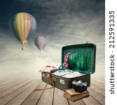 Vintage Suitcase With Old Book...