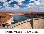 hydro power electric dam  lake... | Shutterstock . vector #21259603