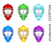 set of goalie helmets for ice...