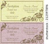 antique baroque wedding... | Shutterstock .eps vector #212597896
