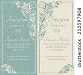 antique baroque wedding... | Shutterstock .eps vector #212597908