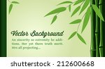 green bamboo card design... | Shutterstock .eps vector #212600668