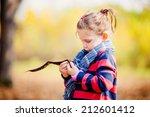 portrait of little girl in... | Shutterstock . vector #212601412