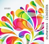 abstract colorful arc drop... | Shutterstock .eps vector #212602006