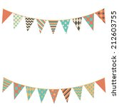 party bunting background in... | Shutterstock .eps vector #212603755