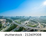 flyover in chengdu  china | Shutterstock . vector #212609308