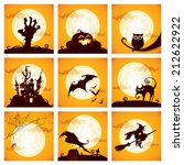Stock vector collection of halloween elements 212622922