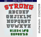 strong. custom athletic college ... | Shutterstock .eps vector #212625208