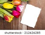 bouquet of beautiful tulips... | Shutterstock . vector #212626285