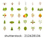 different trees collection... | Shutterstock .eps vector #212628136