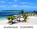 beautiful tropical paradise...   Shutterstock . vector #212634892