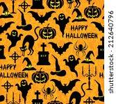seamless halloween background | Shutterstock .eps vector #212640796