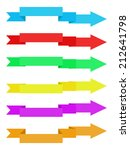colorful ribbons with arrow... | Shutterstock .eps vector #212641798