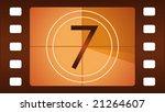 vector film countdown. number 7. | Shutterstock .eps vector #21264607
