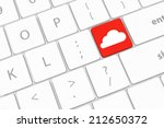 cloud computing concept on... | Shutterstock . vector #212650372