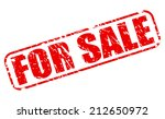 for sale red stamp text on white | Shutterstock .eps vector #212650972