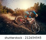 downhill mountain bike. man... | Shutterstock . vector #212654545